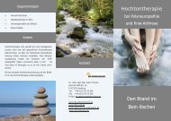 Hochtontherapie - Die Schmerzpraxis Dr. Tamme