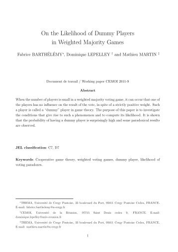 On the Likelihood of Dummy Players in Weighted Majority Games