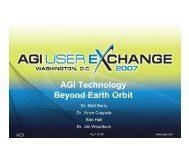 AGI Technology Beyond Earth Orbit