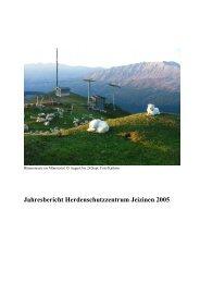 Jahresbericht 2005 Kompetenzzentrum Oberwallis - Herdenschutz