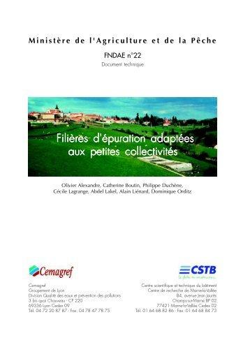 Filières d'épuration adaptées aux petites collectivités - Epnac