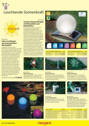 Leuchtende Sonnenkraft - Wetter.ch