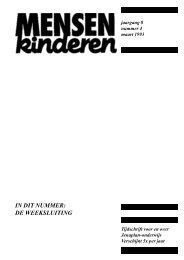 in dit nummer: de weeksluiting - Nederlandse Jenaplanvereniging