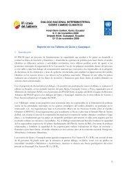 Informe del Diálogo - UNDPCC.org