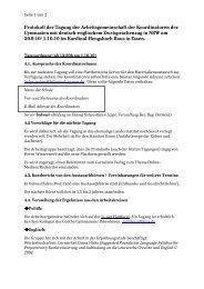 Protokoll 1. Oktober 2010 - Arbeitsgruppe der Koordinator(inn)en in ...