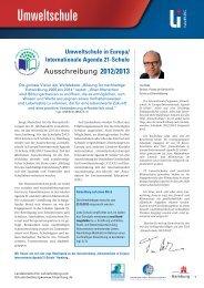 Umweltschule in Europa/ Internationale Agenda 21-Schule