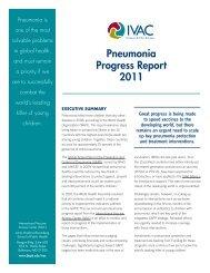 Pneumonia Progress Report 2011 - World Pneumonia Day