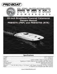 Mystic 29 Catamaran BL RTR Manual - Pro Boat