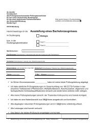 Ausstellung eines Bachelorzeugnisses - Biostudium.uni-wuerzburg.de