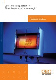 Overspændingsbeskyttelse til solceller - MTO electric A/S