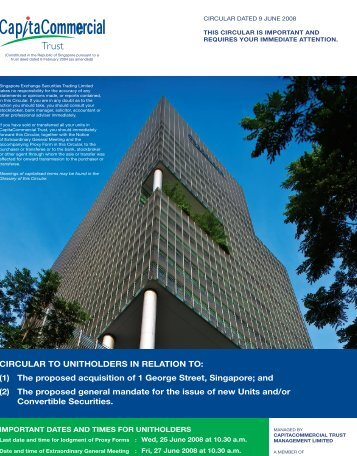 1 George Street - CapitaCommercial Trust