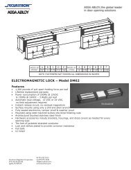 ELECTROMAGNETIC LOCK – Model DM62 - SmartHome-Products