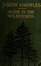 Alone in the wilderness - Survival-training.info