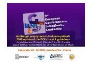 ECIL3 Antifungal prophylaxis update 2009 - European Leukemia Net