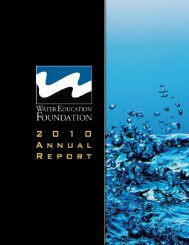 2010 Annual Report - Water Education Foundation