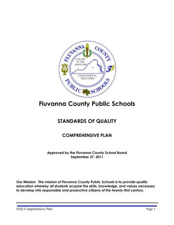 Standards of Quality and Comprehensive Plan - Fluvanna County ...