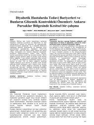 Diyabetik Hastalarda Tedavi Bariyerleri ve ... - Yeni Tıp Dergisi