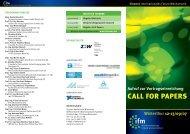 Aufruf zur Vortragseinreichung - Internationales Forum Mechatronik ...