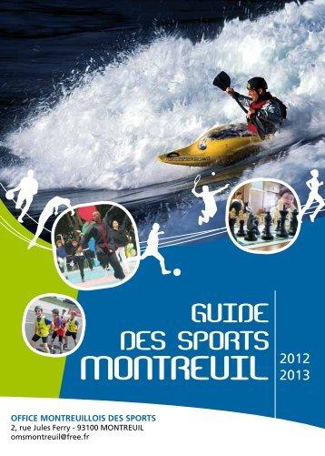 Télécharger le guide des sports - Ville de Montreuil