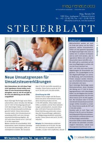 Steuerblatt 3/2010 - tax-austria.at