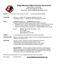Ridge Meadows Minor Hockey Association