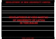 DEVELOPMENT OF NEW CAMPUS OF UNIVERSITY OF LATVIA IN ...
