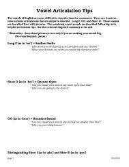 Vowel Articulation Tips