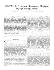 V-OFDM: On Performance Limits over Multi-path Rayleigh Fading ...
