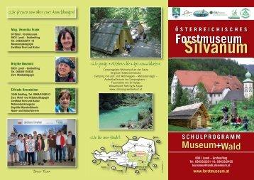 Silvanum SCHULPROGRAMM Museum+Wald - Forstmuseum ...