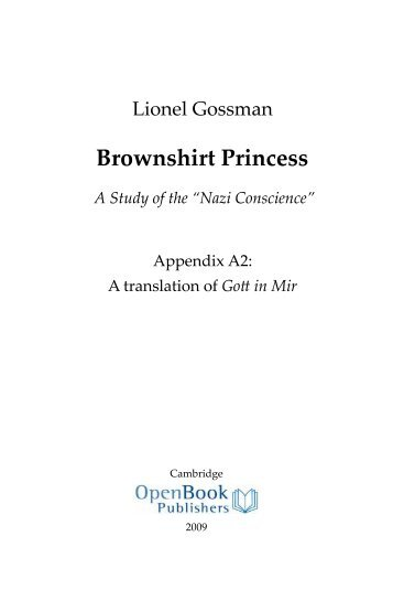 Brownshirt Princess - Open Book Publishers