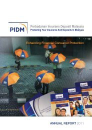 Enhancing Financial Consumer Protection ANNUAL ... - PIDM
