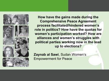 Women redefining democracy in Sudan - Nobel Women's Initiative