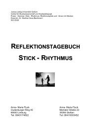 reflektionstagebuch stick - Ethnomusicscape