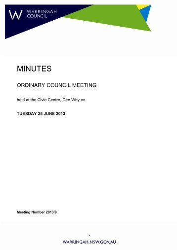 resolved - Warringah Council - NSW Government