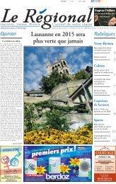 Lausanne en 2015 sera plus verte que jamais