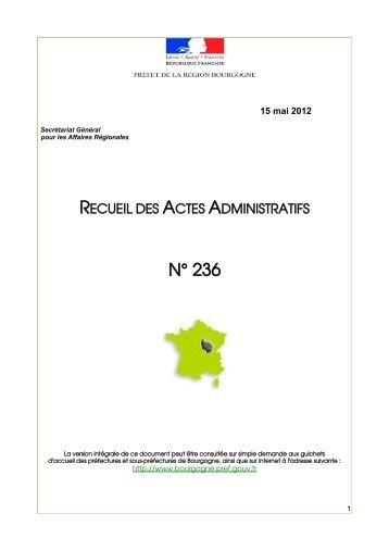 RAA 236 - Préfecture de la Côte-d'Or