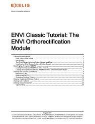 ENVI Classic Orthorectification Module - Exelis VIS