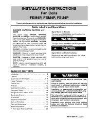 INSTALLATION INSTRUCTIONS Fan Coils FEM4P ... - PROFLO