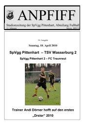 SpVgg Pittenhart – TSV Wasserburg 2