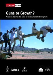 Guns or Growth? - Oxfam New Zealand