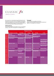 Classic FM Q3 - Sky Radio Group