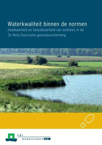 2013-044 Waterkwaliteit binnen de normen ... - Wageningen UR