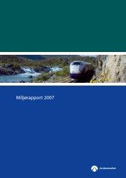 Miljørapport 2007.pdf - Jernbaneverket