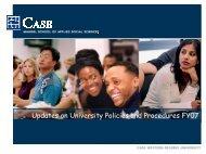 Updates on University Policies and Procedures FY07