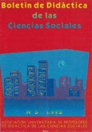 Boletín de ·Didáctica de las Ciencias Sociales N° 5 Editores
