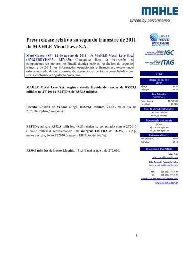 2º Trimestre de 2011 - mahle