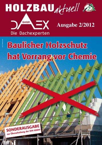 Neue Kundenzeitschrift Holzbau aktuell Nr. 2 / 2012 - DAEX GmbH