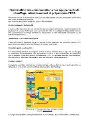 le chauffage, le refroidissement et l'ECS - Cellule Économique du ...