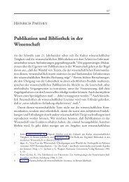 Publikation und Bibliothek in der Wissenschaft - Gesellschaft für ...