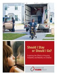 Should I Stay or Should I Go? Exploring the Effects of Housing